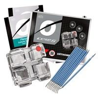 Bráquete Cerâmico Iceram-Safira Roth 022 Kit Promo - Orthometric