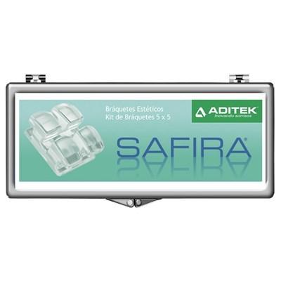 Bráquete Cerâmico Safira Mini Roth 018 Kit 1 Caso - Aditek