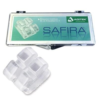 Bráquete Cerâmico Safira Mini Roth 022 Kit 1 Caso - Aditek