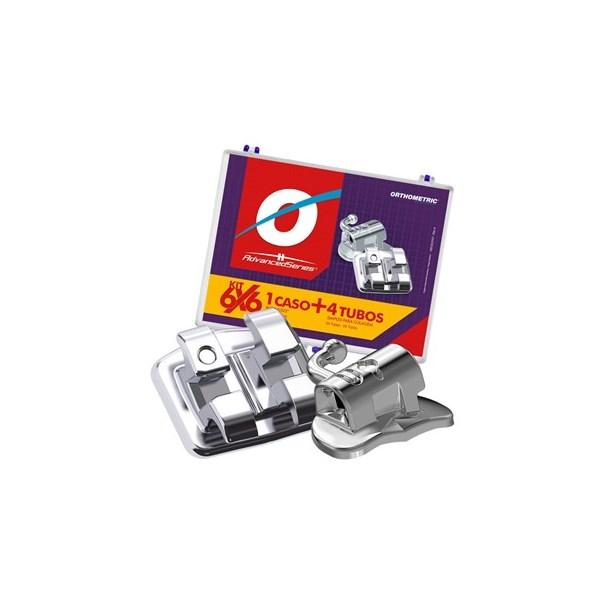 Bráquete de Aço Advanced Series Roth 022 Kit 1 Caso + Tubos - Orthometric