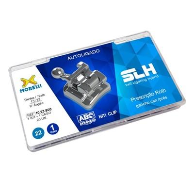 Bráquete de Aço Autoligado SLH Roth 022 Kit 1 Caso - Morelli