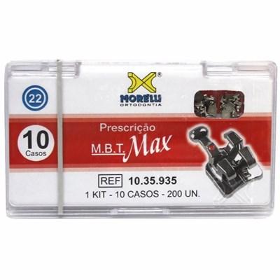 Bráquete de Aço MBT Max 022 Kit 10 Casos com Gancho - Morelli