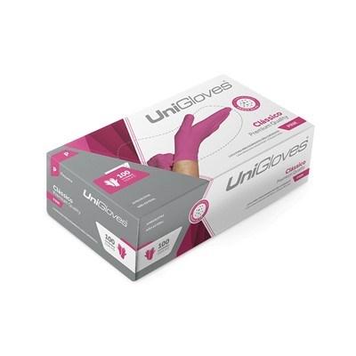Luva de Procedimento Colorida Pink - Unigloves
