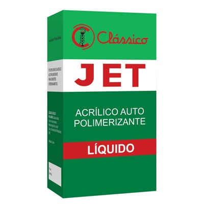 Resina Acrílica Autopolimerizável Jet Líquido 120ml - Clássico